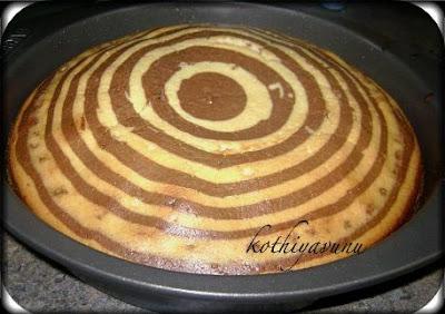 Tasty Zebra Sponge Cake