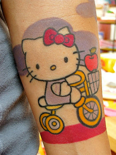 hello kitty, hello kitty tattoos, tattooing