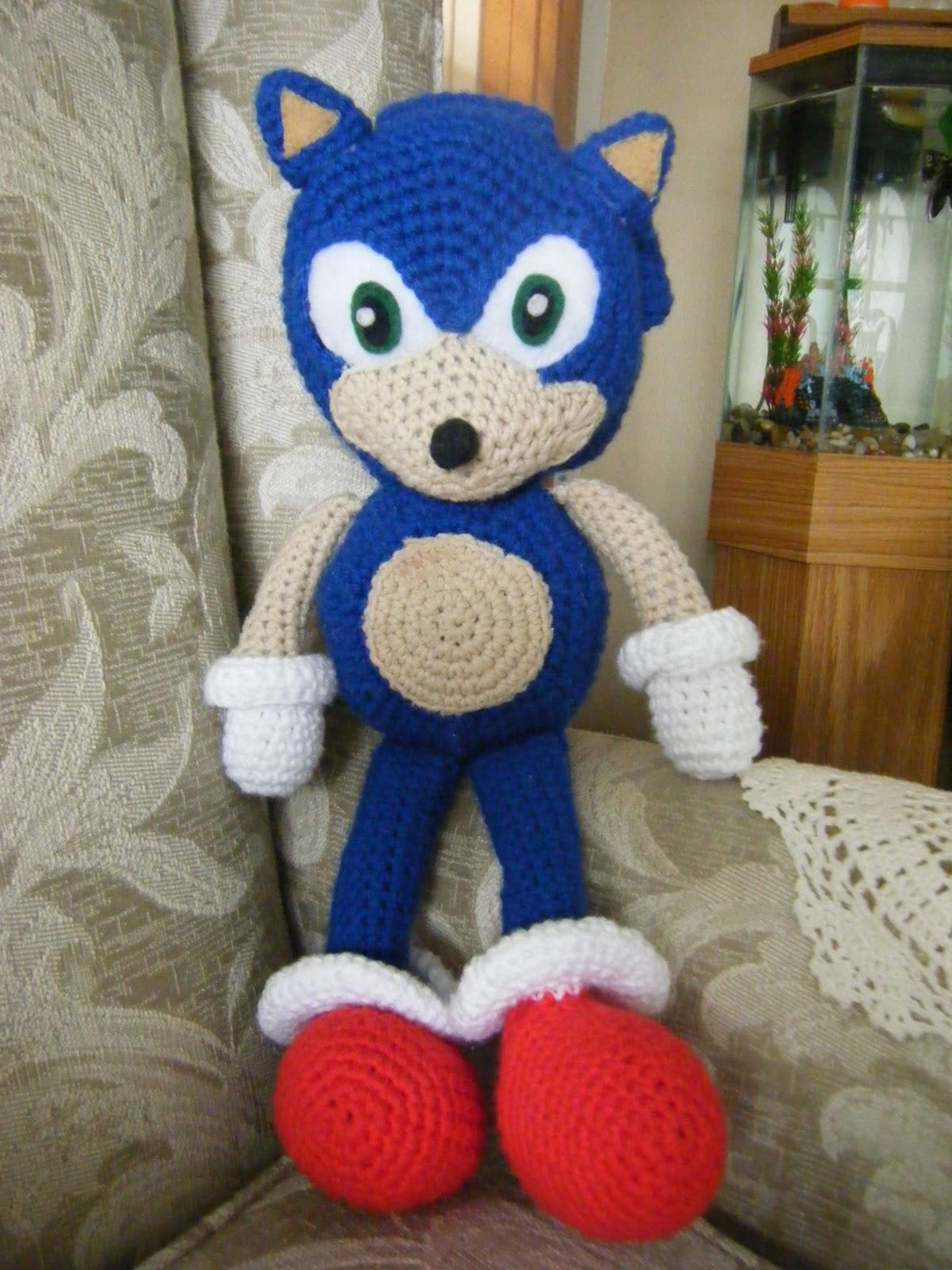 Sonic The Hedgehog - Agujas, Hilos... Crochet!!!