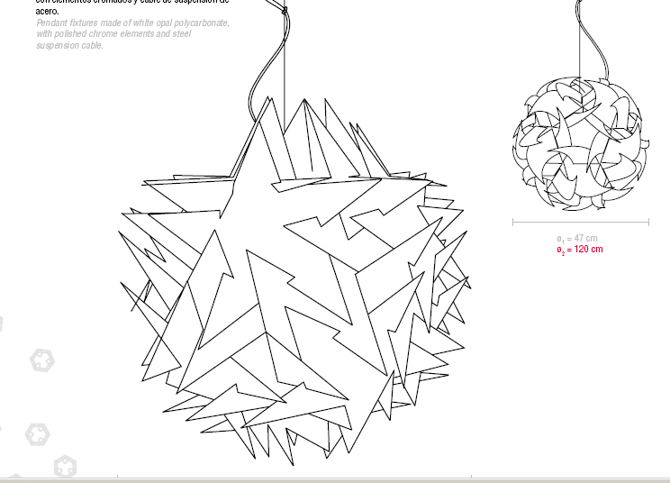 Maribleduca: Geometría: Lamparas