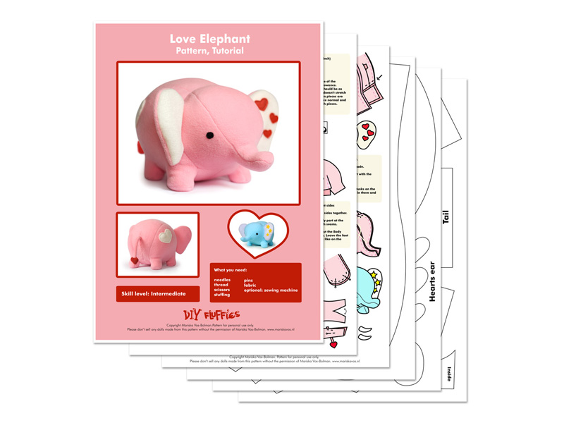 Toy Patterns By Diy Fluffies Giveaway Love Elephant Sewing