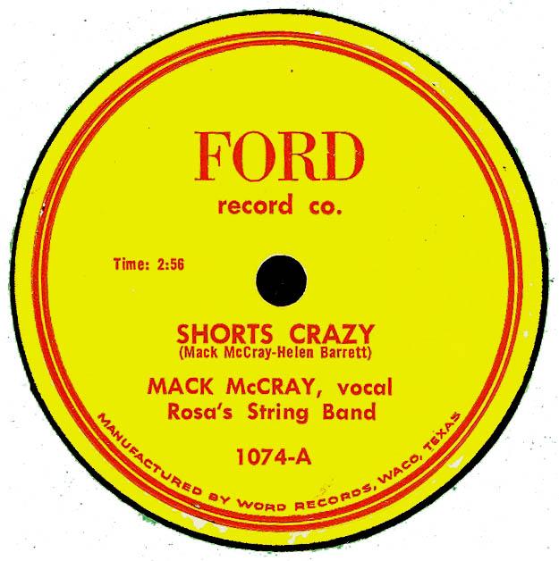 Mack McCray - Rosa's String Band - Shorts Crazy