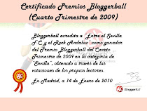 Diploma acreditativo Premios Bloggerball