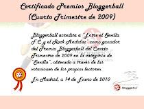 Diploma acreditativo Premios Bloggerball