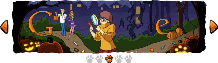 Tercera Imagen de la tira de Scooby Doo que publico para Halloween