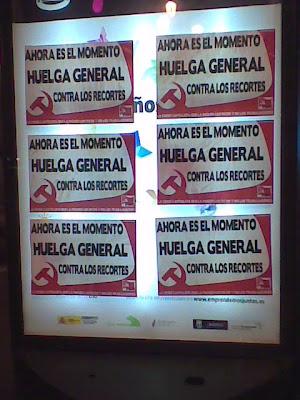 PCPE-CJC: Agitación en Madrid por la Huelga General SafeRedirectcentro
