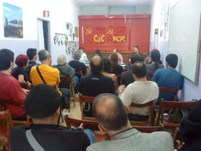Presentación de la Revista Comunista Internacional en Madrid DSC00180