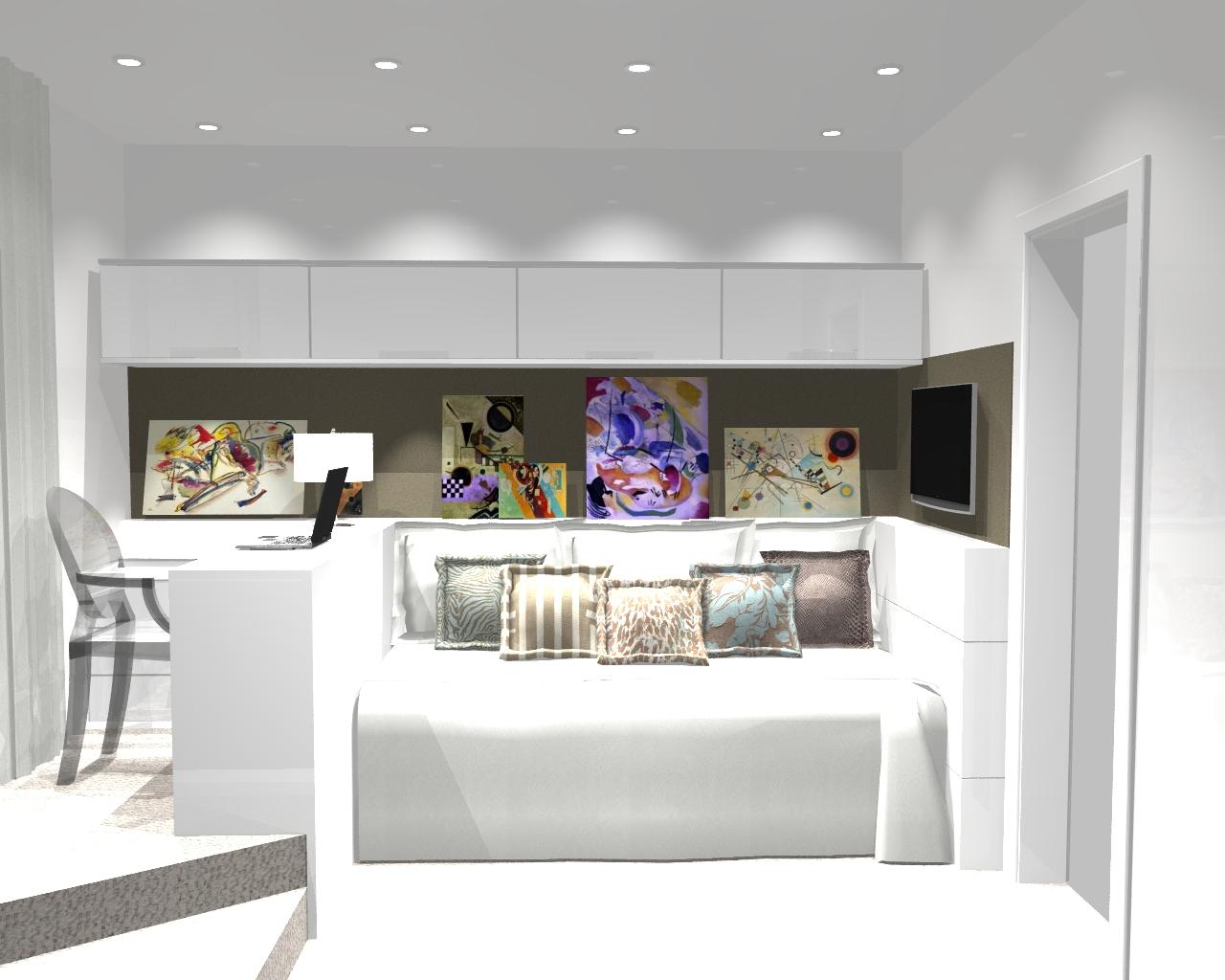 Carolina lira design de interiores dormit rio da jovem for Quadros dormitorio