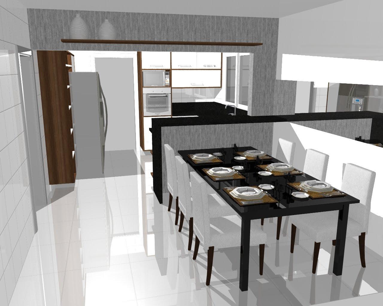 Carolina Lira Design de Interiores: COZINHA INTEGRADA #466D86 1280 1024