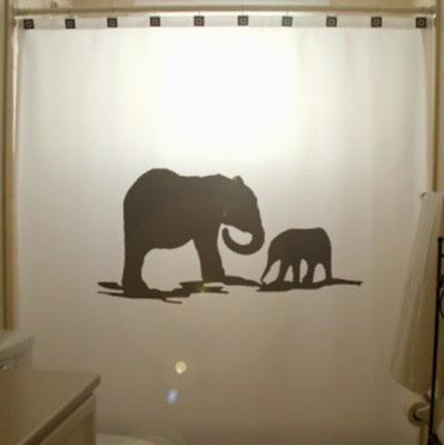Elefántos zuhany függöny
