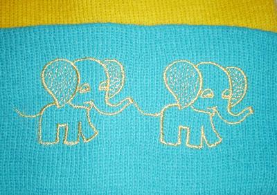 Elefántos gyerek sapka