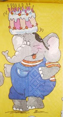 Elefántos szalvéta