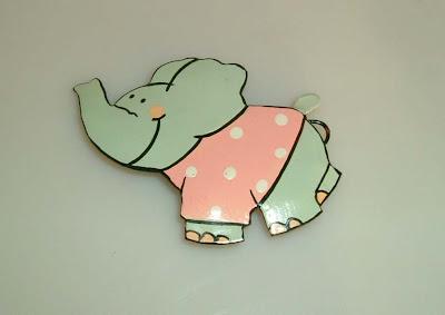 Tűzzománc elefánt