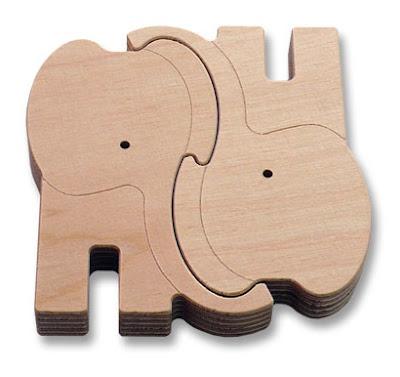 Egyszerű elefántos puzzle