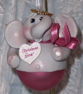 Elefántos karácsonyfadíszek