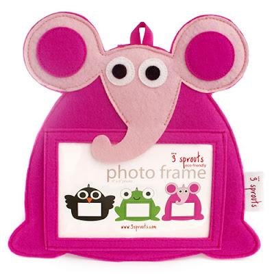 Pink elefántos képkeret
