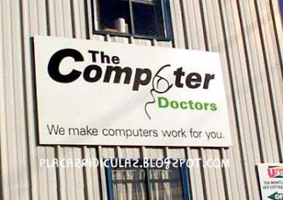 Letreiros Ridículos Computer+doctor