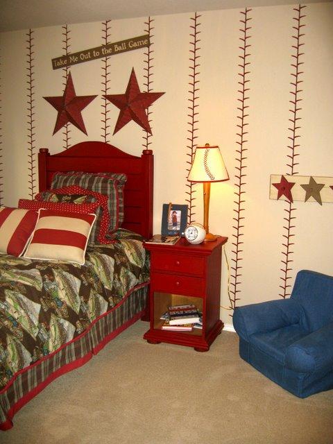 Vintage Baseball Decor For Boys Room