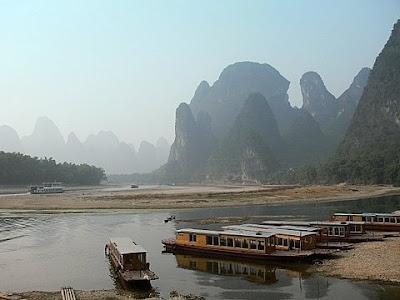 port de xingping sur la riviere Li