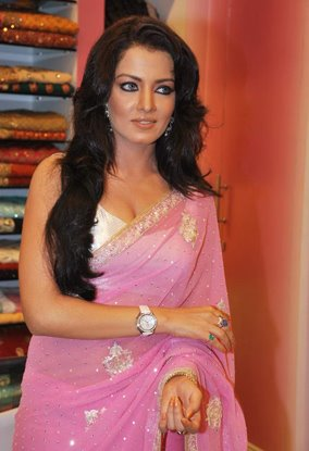 celina jaitley pink saree baby doll actress pics