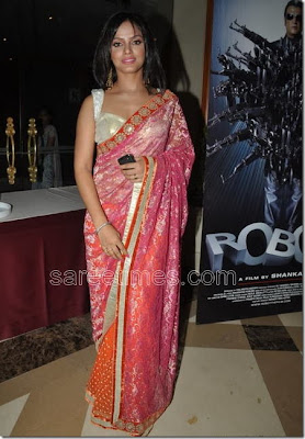 Neetu Chandra in pink saree