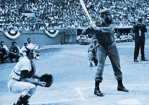 Fidel jogando beisebol