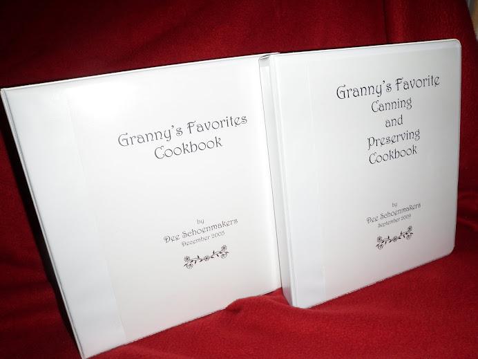 Granny's Favorite Recipe Cookbooks