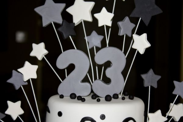 Cakes by dusty durals 23rd birthday durals 23rd birthday 6 8 the customer sent me a picture of what she wanted so i just replicated the cake in the picture white almond sour cream cake thecheapjerseys Gallery