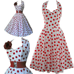 Polka  Dress on White And Red Polka Dot Dress Jpg