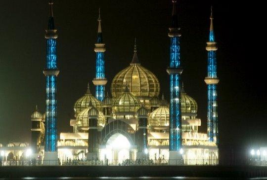 Terengganu Myjourney The Beautiful Crystal Mosque In Malaysia