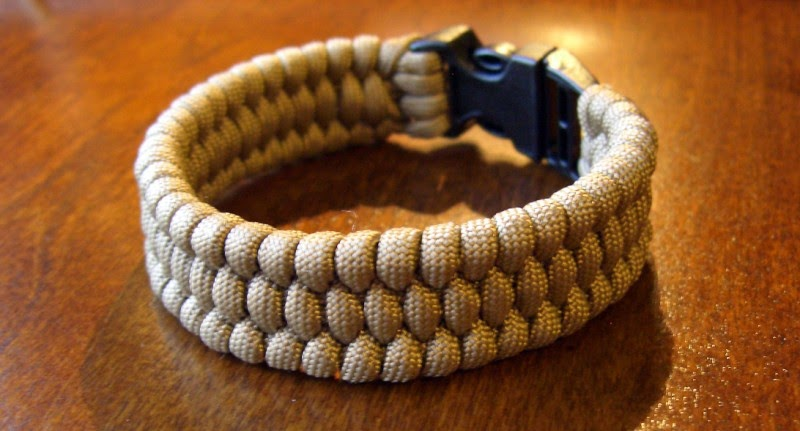 Paracord bracelet watchband