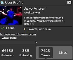 Twitter Joko Anwar Paling Berpengaruh Sedunia