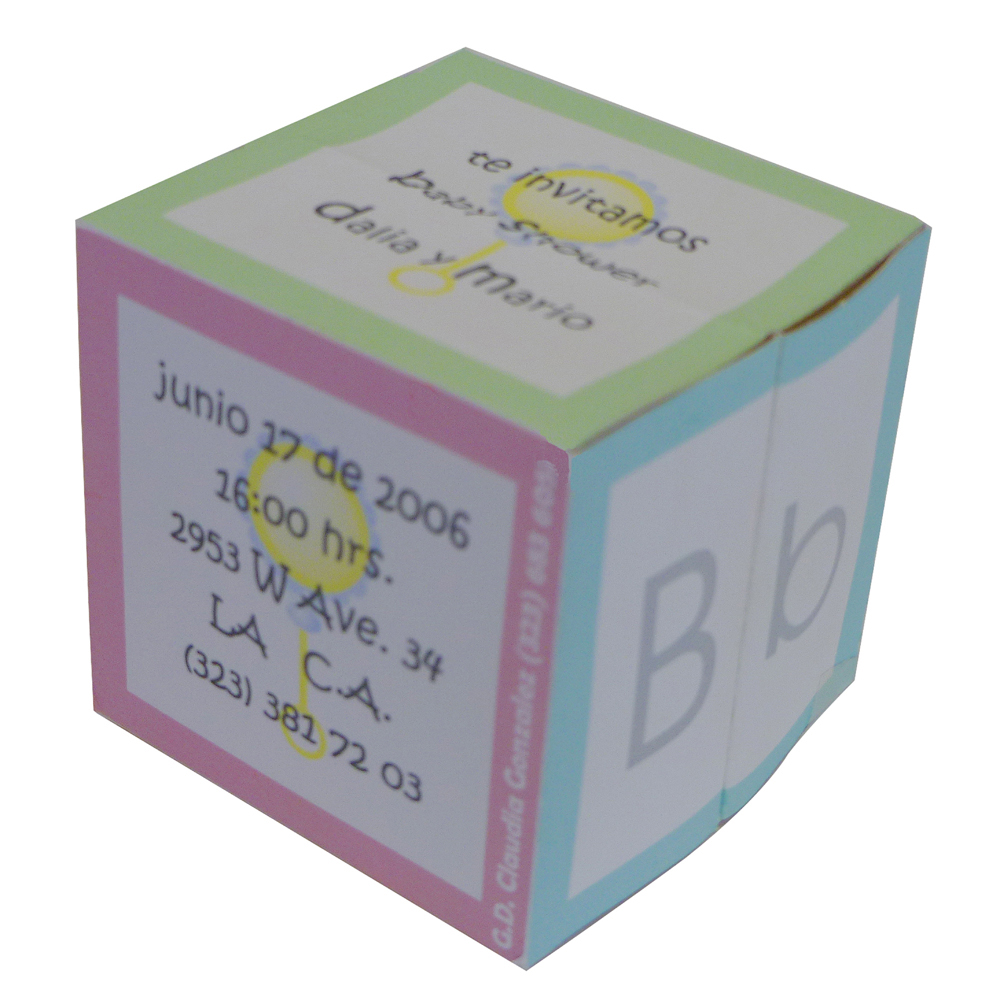 claudia\'s design blog: baby shower 3D invitations