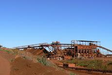Cape Lambert Iron Ore Stockpile.