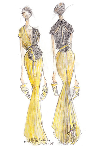 Dress of Your Dreams Design Sketch