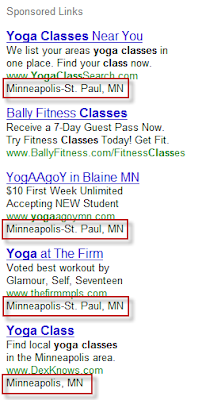 Google Adwords Ads Displaying Metro Name in Ad
