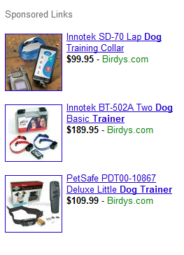 Google Adwords Product Listing Ads: Dog Trainer