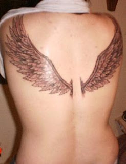 Angel Tattoo Designs Especially Angel Wings Tattoos With Image Female Back Piece Angel Wings Tattoo Picture 2