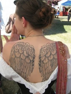 Angel Tattoo Designs Especially Angel Wings Tattoos With Image Female Back Piece Angel Wings Tattoo Picture 1