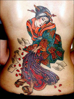 Nice Japanese Tattoos Especially Japanese Geisha Tattoo Designs With Image Japanese Geisha Back Piece Tattoo For Women Tattoos Picture 2