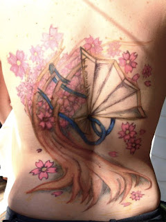 Japanese Tattoos Especially Cherry Blossom Tattoo Designs With Image Most Popular Female Tattoos With Cherry Blossom Tattoo For The Back Body 7