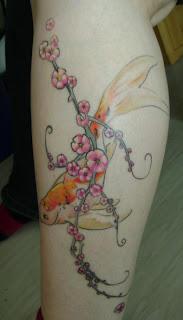 Amazing Art of Calf Japanese Tattoo Ideas With Koi Fish Tattoo Designs With Image Calf Japanese Koi Fish Tattoo Gallery 3