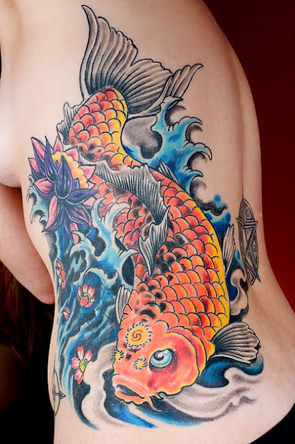 Mister tattoos amazing art of side body japanese tattoo for Amazing koi fish