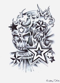 Nice Star Tattoos With Image Tattoo Designs Especially Skull Star Tattoo Picture 1