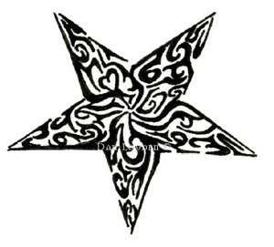 Nice Star Tattoos With Image Tattoo Designs Especially Star Tribal Tattoo Picture 10