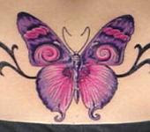 Butterfly Lower Back Tattoos Picture 2