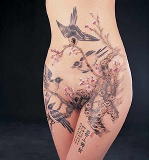 Nice Japanese Tattoos With Image Japanese Tattoo Designs For Female Tattoo With Japanese Bird Tattoo On The Body Picture 1