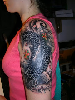Japanese Tattoos With Image Japanese Fish Tattoo Designs Especially Japanese Koi Fish Tattoo For Female Tattoo Picture 5