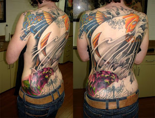 Feminine Tattoos With Image Feminine Full Backpiece Tattoo Designs Picture 7