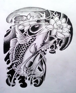 three koi fish tattoo